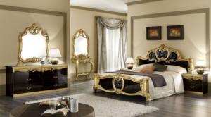 Sypialnia Barocco Black Gold